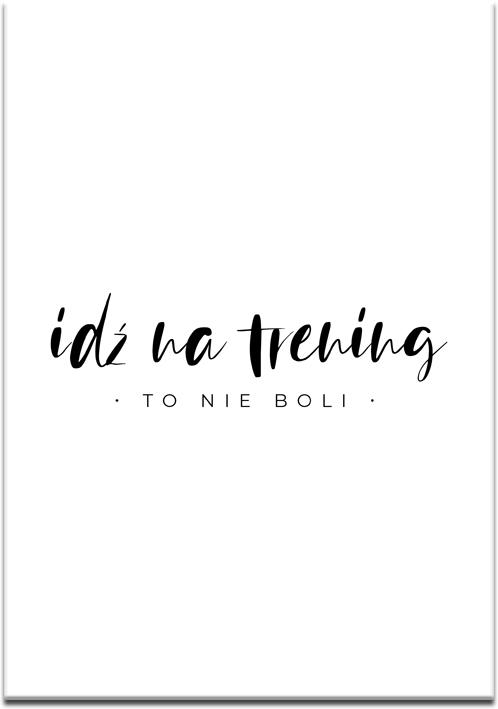 Typograficzny plakat do siłowni