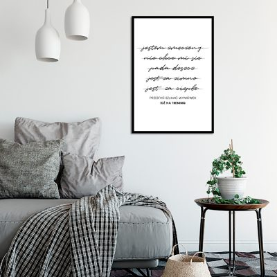 Plakat typograficzny do sypialni