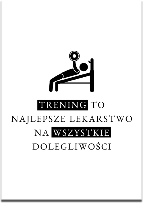 Plakat motywacyjny czarno-biały