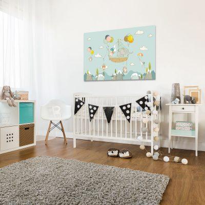 Obraz w kolorze miętowym do pokoju dziecka