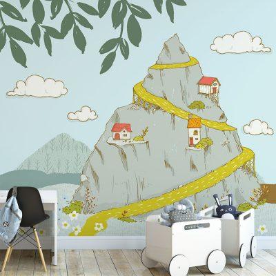 Tapeta dziecięca z motywem góry