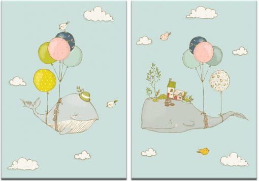 Obraz podwójny do pokoju dziecka