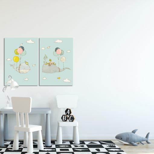 Obraz dyptyk do pokoju dziecka