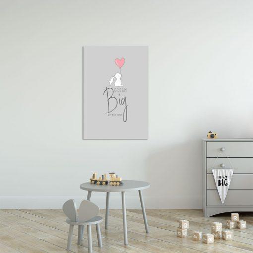Szary obraz do pokoju dziecięcego