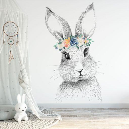 Tapeta dziecięca z króliczkiem