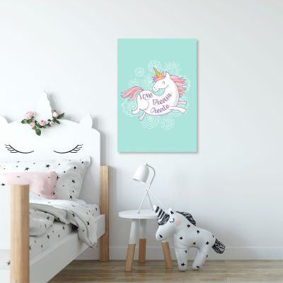 plakaty z jednorożcami