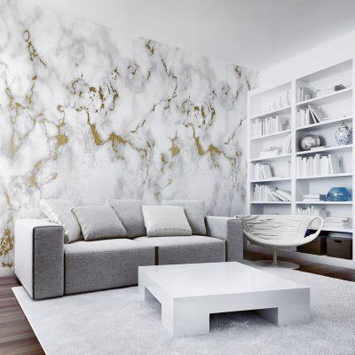 Biała tapeta do salonu