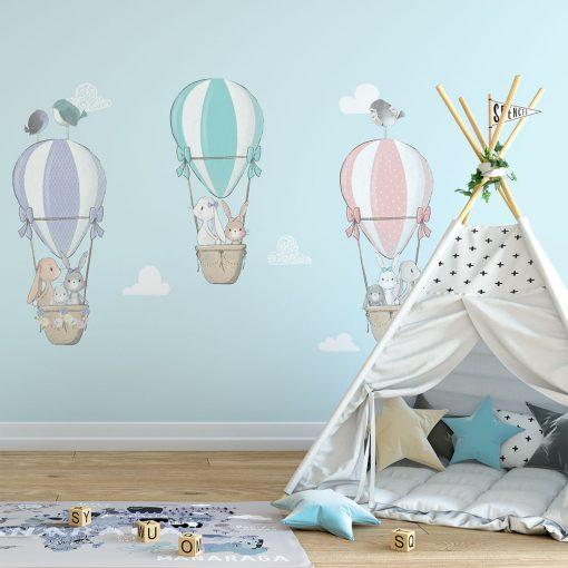 Fototapeta w kolorze niebieskim do pokoju dziecięcego
