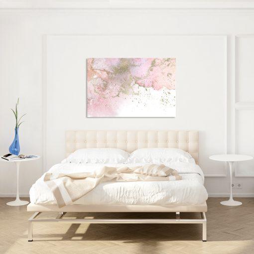 Obraz różowy do dekoracji sypialni