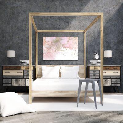 Obraz z motywem akwareli do sypialni