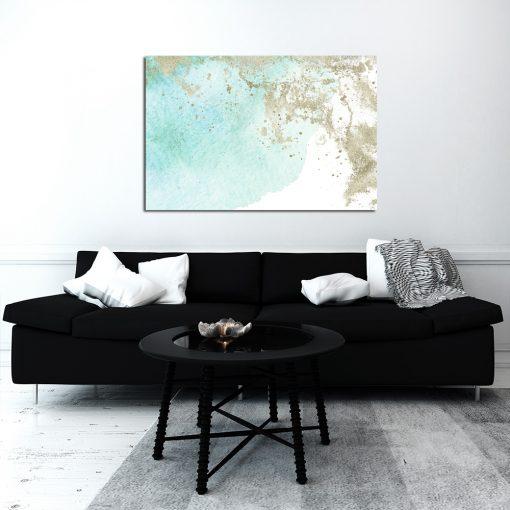 Turkusowy obraz do dekoracji sypialni