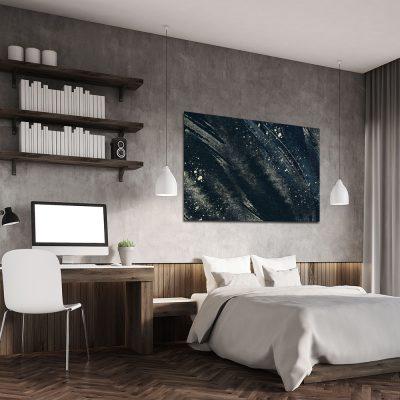 Obraz z abstrakcją do dekoracji sypialni