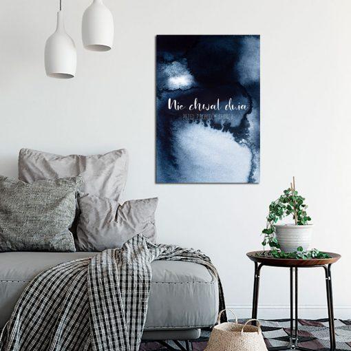 Plakat z przysłowiem do ozdoby salonu