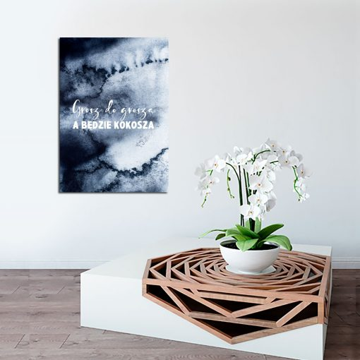 Plakat z przysłowiem do dekoracji salonu