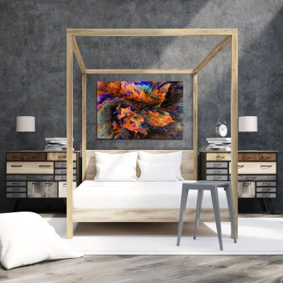 Obraz pomarańczowy do sypialni