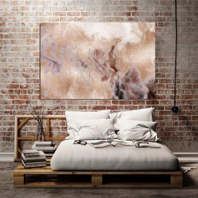 Obraz z metalicznym motywem do sypialni