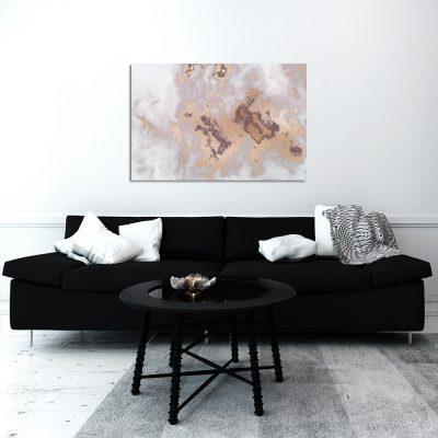 Obraz marmurkowy do salonu