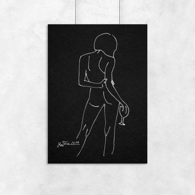 plakaty minimalistyczne szkice