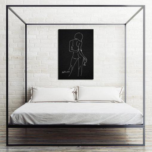 plakat kobiecy akt na ścianę do sypialni