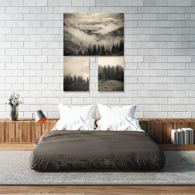 Zestaw plakatów z widokiem do sypialni