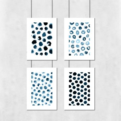 Abstrakcyjny zestaw czterech plakatow
