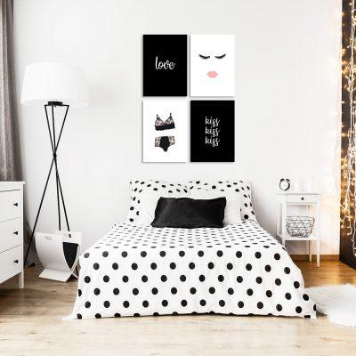 Galeria plakatów z kobiecymi ilustracjami do sypialni