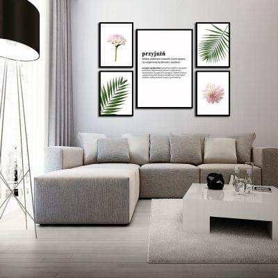 Zestaw plakatów z florystycznym motywem