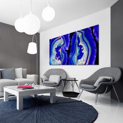 Abstrakcyjny tryptyk do salonu
