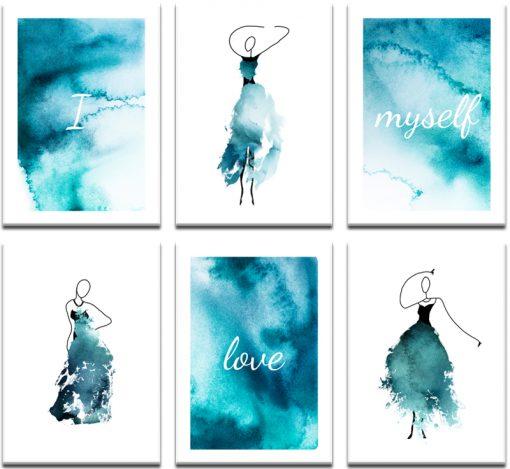 błękitne plakaty