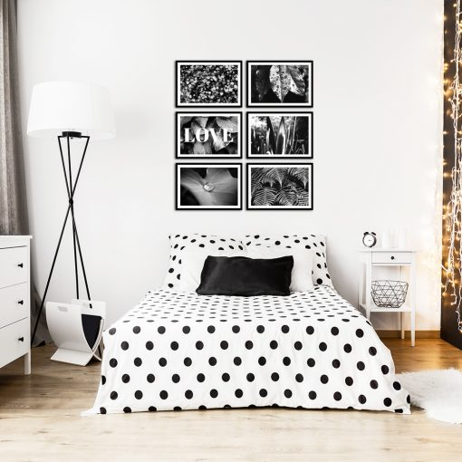biało-czarne plakaty jako zestaw