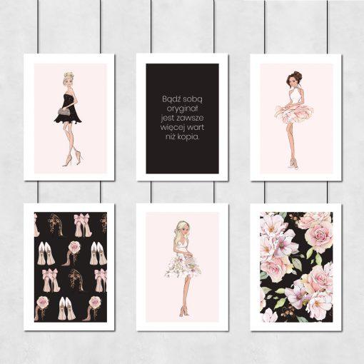 zestaw plakatów kobiecych jako dekoracja