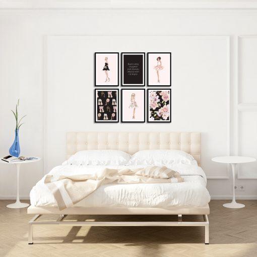 kolorowe plakaty jako jeden zestaw