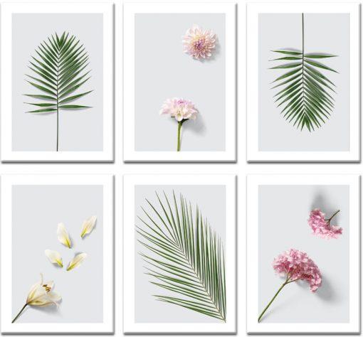 botaniczny zestaw plakatów