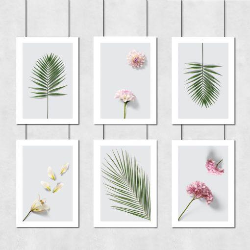 botaniczne plakaty jako zestaw