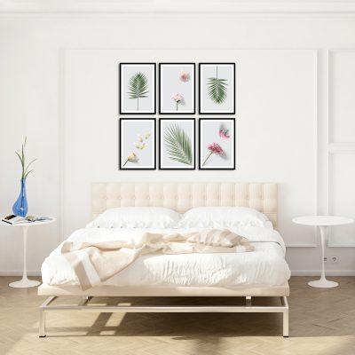 palemki i kwiaty na plakatach