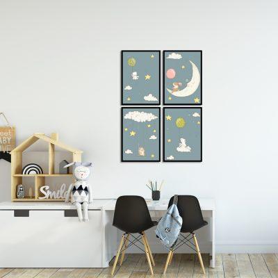 Zestaw plakatów do pokoju dzieciecego