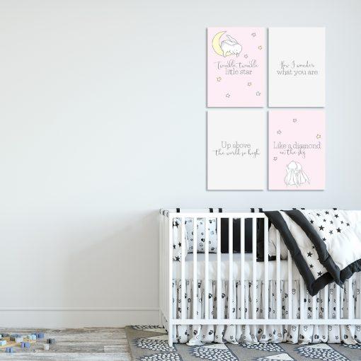 Zestaw plakatów do pokoju dziecięcego