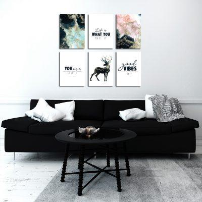 Zestaw plakatów akwarelowych do salonu
