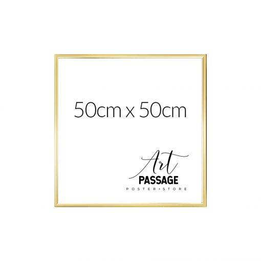 złota rama na plakat 50x50