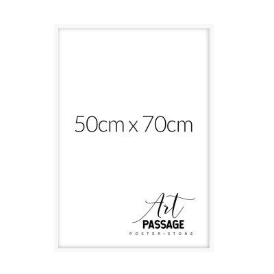 biała rama na plakaty 50x70