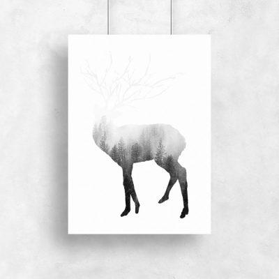 dekoracja z jeleniem