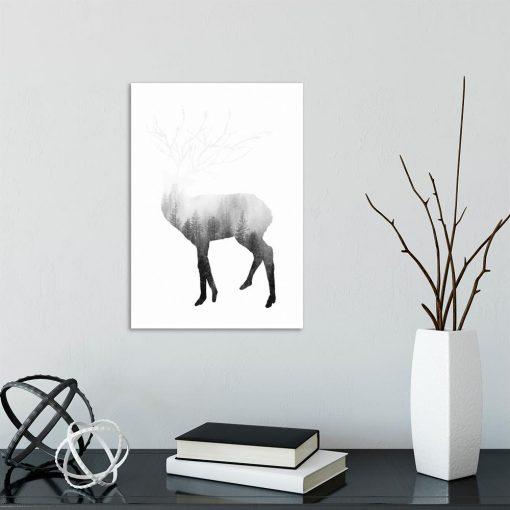 motyw jelenia na plakacie
