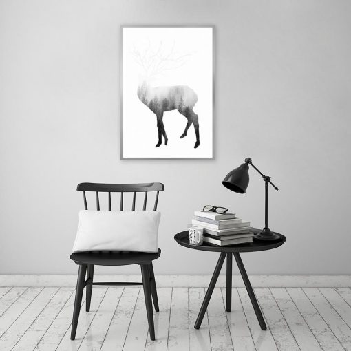 czarno-biała dekoracja do pokoju