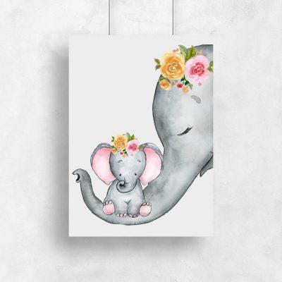 plakat ze słoniem