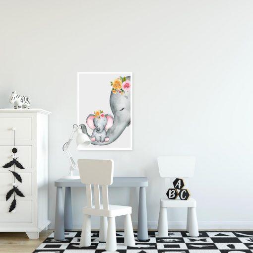 dwa słonie jako motyw dekoracji