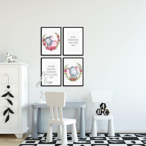 motyw kołysanki na plakatach