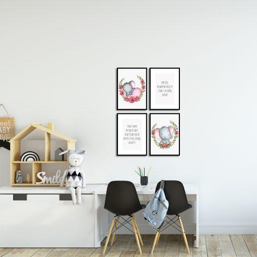 kolorowe plakaty z kołysanką