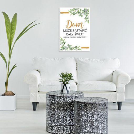 plakat do salonu z napisem