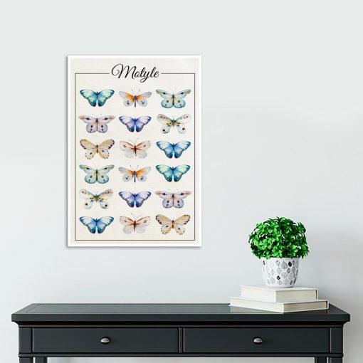 motylki na plakacie