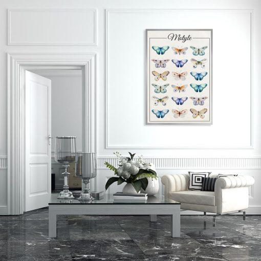 dekoracja z motylami